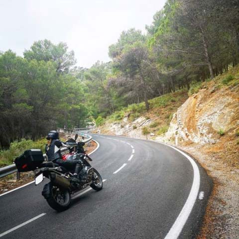 Motorcykle tours in Spain